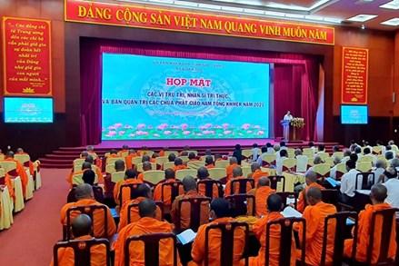Sóc Trăng: Họp mặt trụ trì, nhân sĩ trí thức và Ban quản trị các chùa Phật giáo Nam tông Khmer