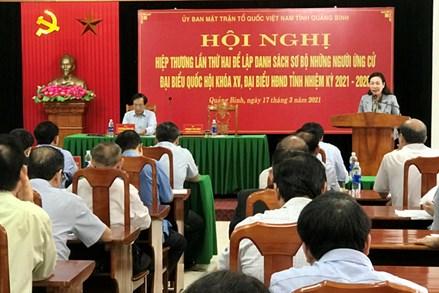 Ủy ban MTTQVN tỉnh Quảng Bình: Phát huy vai trò, chức năng quan trọng trong công tác bầu cử