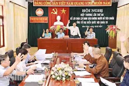 MTTQ các cấp tỉnh Ninh Bình khẳng định vai trò trong công tác bầu cử