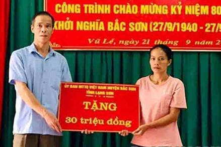 MTTQ huyện Bắc Sơn: Phát huy vai trò trong xây dựng nông thôn mới