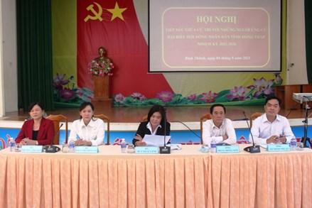 Đồng Tháp: Ứng cử viên đại biểu Hội đồng nhân dân tỉnh tiếp xúc cử tri, vận động bầu cử