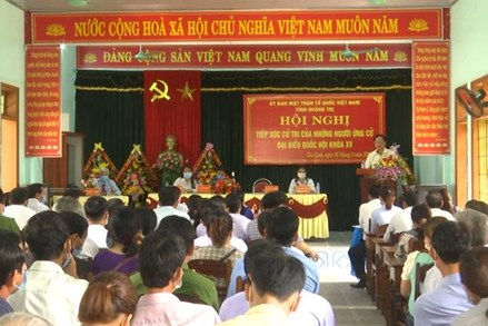 Ủy ban MTTQVN tỉnh Quảng Trị  tổ chức Hội nghị tiếp xúc cử tri với những người ứng cử đại biểu Quốc hội khóa XV