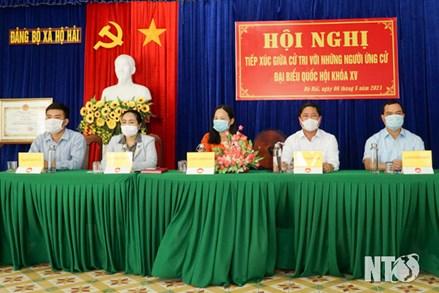 Ninh Thuận: Các ứng cử đại biểu Quốc hội khóa XV tiếp xúc cử tri