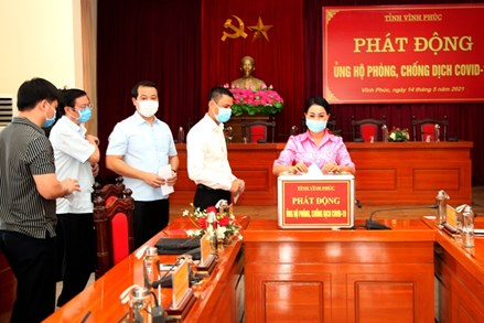 Ủy ban MTTQ tỉnh Vĩnh Phúc phát động quyên góp, ủng hộ phòng, chống dịch