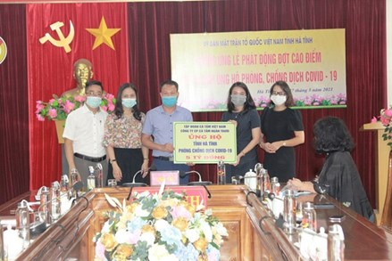Gần 21 tỷ đồng ủng hộ công tác phòng chống dịch Covid-19 ở Hà Tĩnh