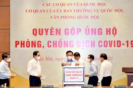Văn phòng Quốc hội quyên góp ủng hộ Quỹ phòng, chống dịch Covid-19