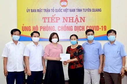 Ủy ban MTTQ Việt Nam tỉnh Ninh Bình, Kon Tum, Đồng Nai, Tuyên Quang: Tiếp nhận ủng hộ phòng, chống dịch COVID-19