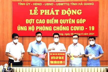 Hà Giang: Hơn 8 tỷ đồng trong ngày đầu tiên phát động ủng hộ phòng, chống COVID-19