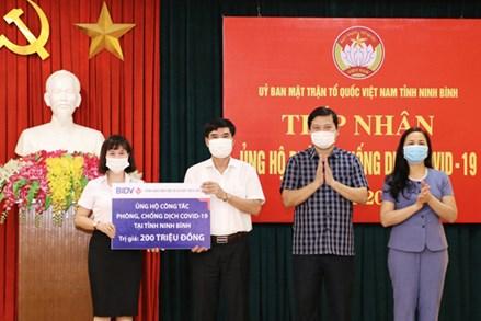 Ủy ban MTTQ Việt Nam tỉnh Ninh Bình  tiếp nhận ủng hộ phòng, chống dịch COVID- 19