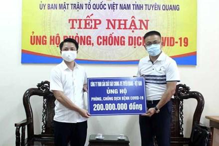 Tuyên Quang: Trên 4,6 tỷ đồng ủng hộ phòng chống dịch Covid - 19