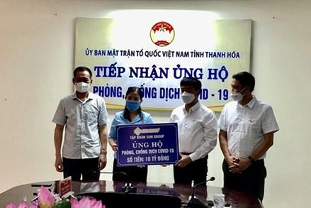 Sun Group ủng hộ tỉnh Thanh Hóa 10 tỷ đồng phòng, chống dịch COVID-19