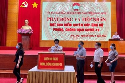 Quảng Ninh: Trên 142 tỷ đồng đăng ký ủng hộ Quỹ Phòng, chống dịch Covid-19