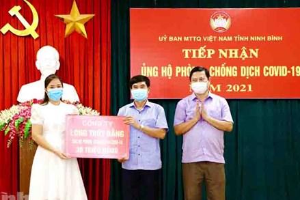 MTTQ Việt Nam tỉnh Ninh Bình tiếp nhận ủng hộ phòng, chống dịch COVID-19