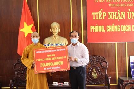 Quảng Nam: Các tôn giáo ủng hộ kinh phí phòng chống dịch bệnh Covid-19