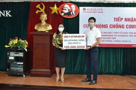 Bình Thuận, Quảng Ngãi: Tiếp nhận ủng hộ quỹ phòng chống dịch Covid-19