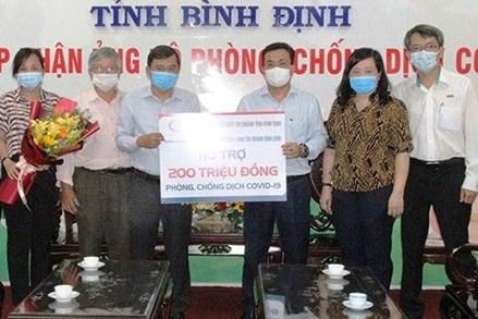 Bình Định: Tiếp nhận 200 triệu đồng cho phòng chống dịch Covid-19