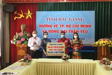 Ủy ban MTTQ tỉnh Bắc Giang: Kêu gọi, vận động ủng hộ TP HCM phòng, chống dịch Covid-19