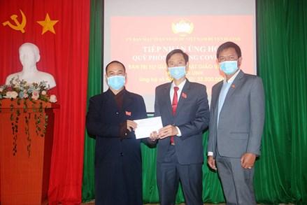 Di Linh (Lâm Đồng): Vận động trên 2 tỷ đồng ủng hộ Quỹ phòng chống dịch Covid-19