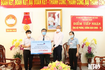Ủy ban MTTQ Việt Nam tỉnh Ninh Thuận: Tiếp nhận hỗ trợ phòng, chống dịch COVID-19