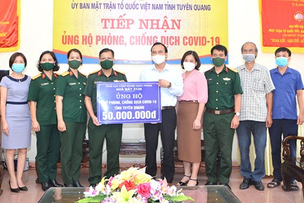 Ủy ban MTTQ tỉnh Tuyên Quang tiệp nhận ủng hộ  phòng chống dịch Covid-19
