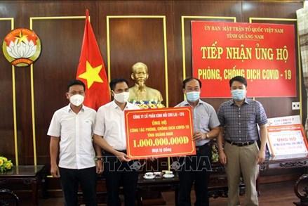 Quảng Nam tiếp nhận hỗ trợ chống dịch COVID-19