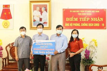 Ủy ban MTTQ Việt Nam tỉnh Ninh Thuận: Tiếp nhận ủng hộ Quỹ phòng, chống dịch COVID-19 từ các doanh nghiệp