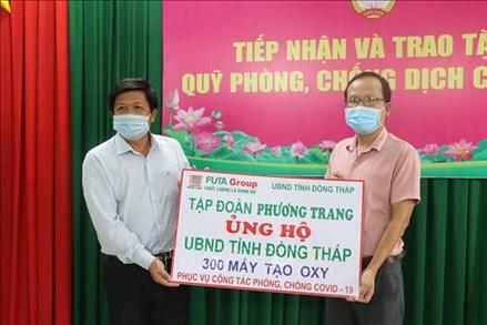 Đồng Tháp: Tiếp nhận 300 máy tạo oxy phục vụ phòng, chống dịch