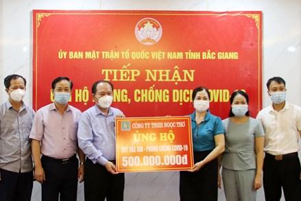Bắc Giang: Tiếp nhận 1 tỷ đồng ủng hộ phòng, chống dịch Covid-19