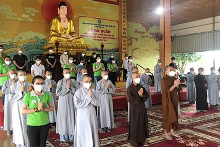 Phật giáo Đồng Nai lên đường vào tuyến đầu chống dịch đợt 2