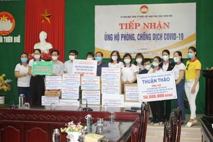 Ủy ban MTTQ tỉnh Quảng Bình, Thừa Thiên – Huế, Thanh Hóa tiếp nhận ủng hộ phòng, chống dịch Covid-19