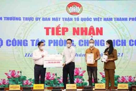 Ủy ban MTTQ Việt Nam thành phố Hà Nội tiếp nhận trên 118 tỷ đồng ủng hộ phòng, chống dịch