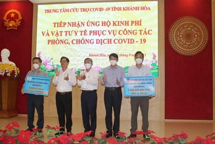 Mặt trận Tổ quốc tỉnh Khánh Hòa tiếp nhận nguồn lực ủng hộ phòng chống Covid-19