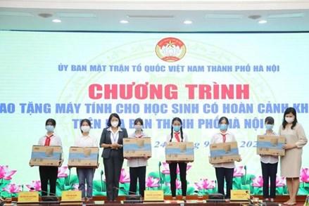 Ủy ban MTTQ tỉnh Quảng Ngãi và TP Hà Nội: Hỗ trợ trang thiết bị học tập cho học sinh khó khăn