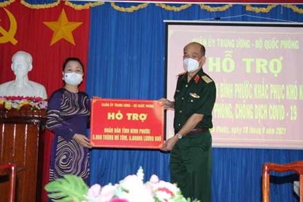 Bình Phước tiếp nhận quà hỗ trợ phòng, chống dịch của Quân ủy Trung ương