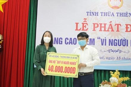 Thừa Thiên-Huế: Phát động tháng cao điểm 'Vì người nghèo'