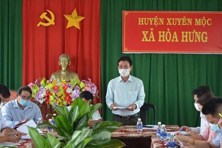 Ủy ban MTTQ tỉnh Bà Rịa – Vũng Tàu giám sát việc thực hiện Nghị quyết 68 tại huyện Xuyên Mộc