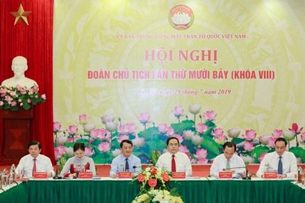 Hội nghị lần thứ mười bảy Đoàn Chủ tịch Uỷ ban Trung ương MTTQ Việt Nam