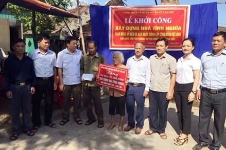 Hà Tĩnh: Hỗ trợ xây dựng nhà Đại đoàn kết cho gia đình chính sách