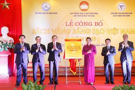 """Vinh danh 74 công trình tiêu biểu trong """"Sách vàng Sáng tạo Việt Nam"""" năm 2019"""