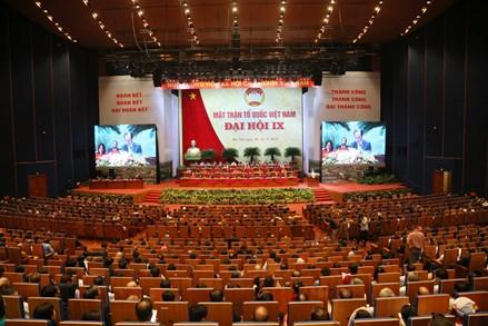 999 Đại biểu tham dự Đại hội đại biểu toàn quốc Mặt trận Tổ quốc Việt Nam lần thứ IX