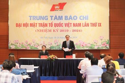 Thông cáo báo chí về kết quả Đại hội đại biểu toàn quốc Mặt trận Tổ quốc Việt Nam lần thứ IX, nhiệm kỳ 2019 – 2024