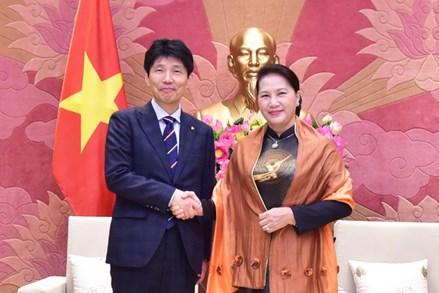 Chủ tịch Quốc hội tiếp Đoàn đại biểu Quốc tế đến thăm và làm việc tại Việt Nam