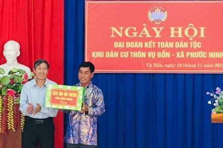 Ninh Thuận: Ngày hội Đại đoàn kết toàn dân tộc thôn Vụ Bổn