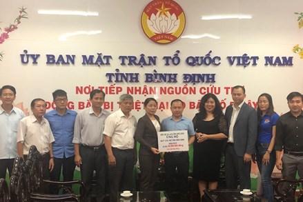 Mặt trận Bình Định tiếp tục tiếp nhận ủng hộ đồng bào bị bão số 5