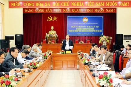 Hội nghị phản biện xã hội nội dung dự thảo Đề án và Nghị quyết của Tỉnh ủy về nâng cao thu nhập và đời sống nhân dân tỉnh Vĩnh Phúc đến năm 2030