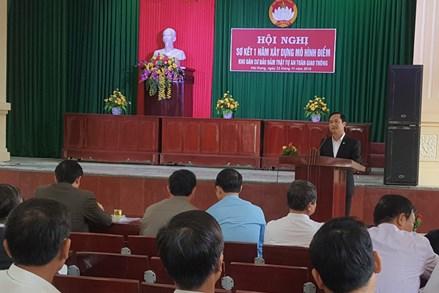 Nam Định sơ kết mô hình điểm 'Khu dân cư bảo đảm trật tự an toàn giao thông'