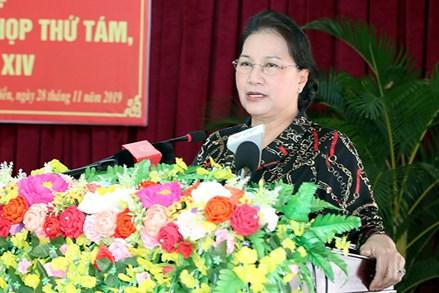Chủ tịch Quốc hội Nguyễn Thị Kim Ngân tiếp xúc cử tri huyện Phong Điền, Thành phố Cần Thơ