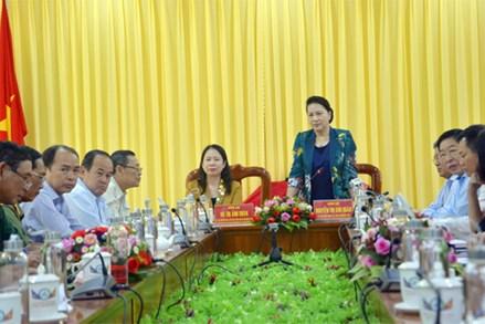 Chủ tịch Quốc hội Nguyễn Thị Kim Ngân thăm, làm việc tại An Giang