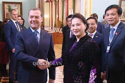 Chủ tịch Quốc hội hội kiến Thủ tướng Liên bang Nga