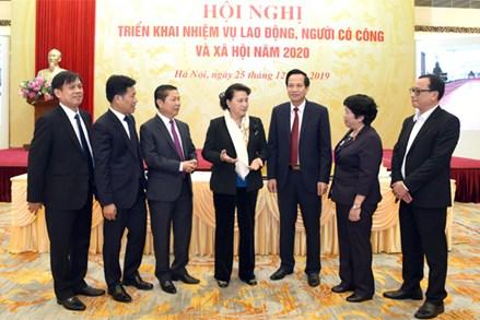 Chủ tịch Quốc hội Nguyễn Thị Kim Ngân dự Hội nghị triển khai nhiệm vụ lao động, người có công và xã hội năm 2019